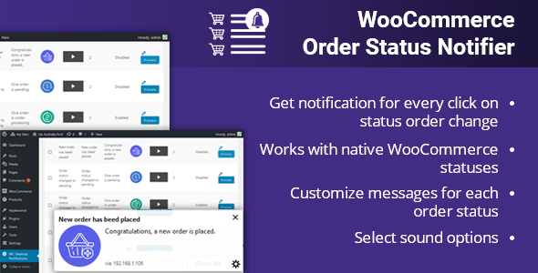 WooCommerce Order Status Notifier - CodeCanyon Item for Sale
