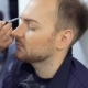 Makeup Artist Paints Beard of the Man - VideoHive Item for Sale