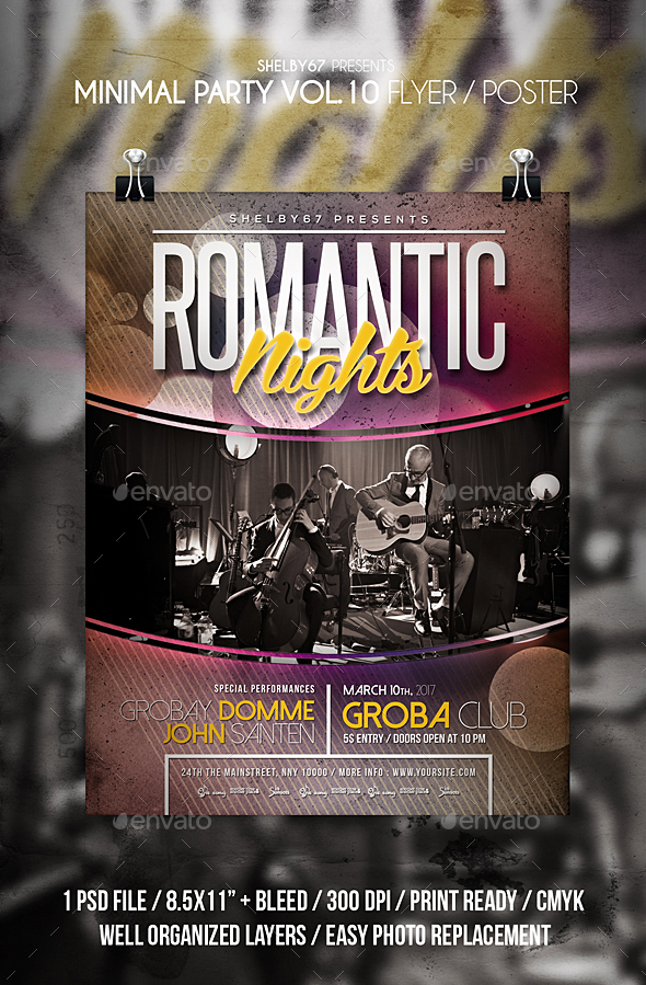 Minimal Party Flyer / Poster Vol 10 - Events Flyers