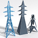 mast of power lines - 3DOcean Item for Sale