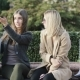 Two Girls Friends Sit on Bench in City Park After Shopping - VideoHive Item for Sale