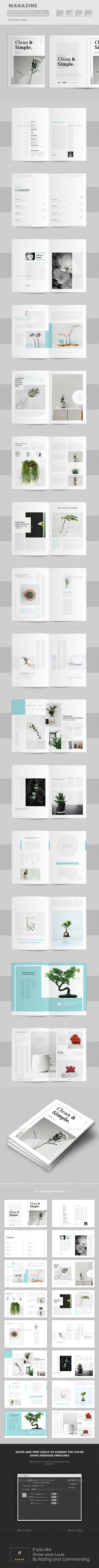 Clean and Simple Magazine Template - Magazines Print Templates