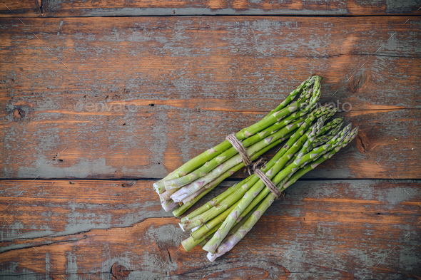 Fresh asparagus bunches - Stock Photo - Images
