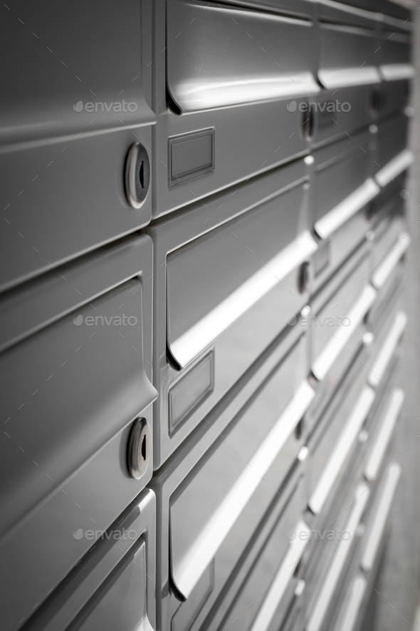 Modern mailboxes - Stock Photo - Images
