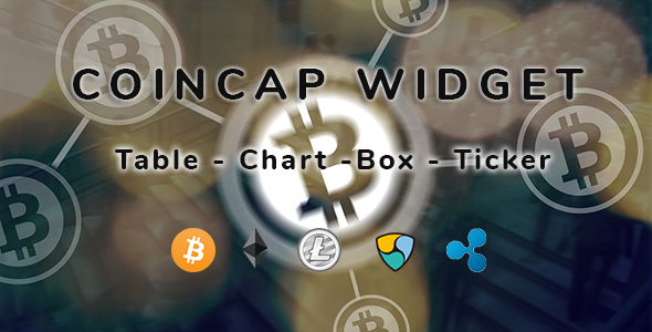 CoinCap Widget - Cryptocurrency WordPress Plugin - CodeCanyon Item for Sale