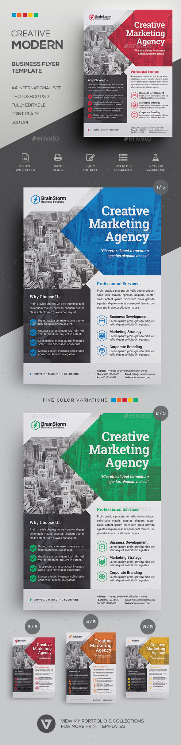 Corporate business flyer template by verazo graphicriver corporate business flyer template corporate flyers cheaphphosting Images