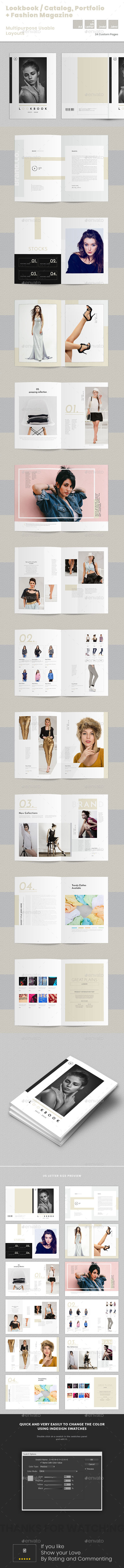 Lookbook / Catalog / Portfolio + Fashion Magazine Templates - Catalogs Brochures
