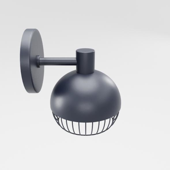 Cage Matte Black Sconce - 3DOcean Item for Sale