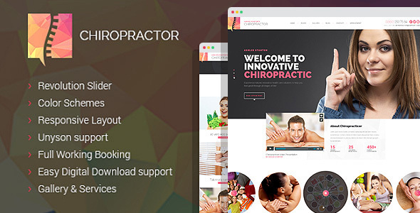 Chiropractor - Therapy and Rehabilitation WordPess Theme - Health & Beauty Retail