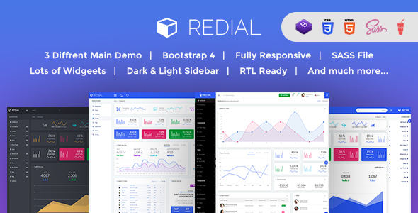 Image of Redial - Bootstrap 4  Admin/Dashboard Template