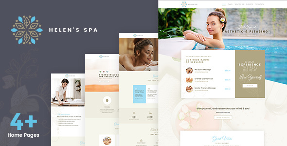 Helen's Spa - Beauty Spa, Health Spa & Wellness Theme - Health & Beauty Retail