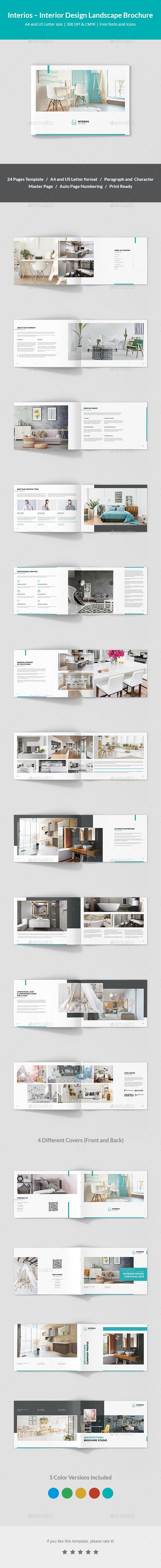Interios – Interior Design Landscape Brochure - Corporate Brochures