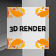 Posm Store Shelf Banner 3D Render - GraphicRiver Item for Sale