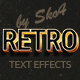 Retro Text Effects - 10 PSD - GraphicRiver Item for Sale