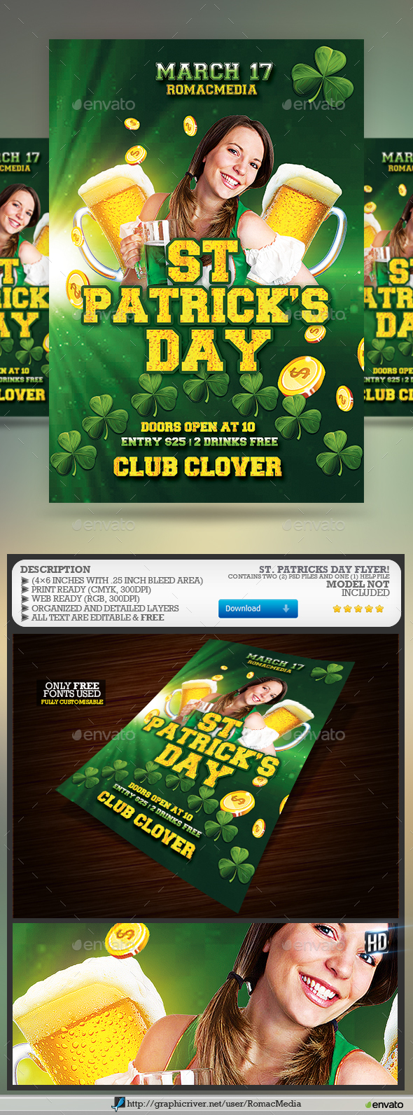St. Patrick's Day Flyer - Clubs & Parties Events
