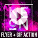 Neon Dusk Flyer + GIF Animation Action - GraphicRiver Item for Sale