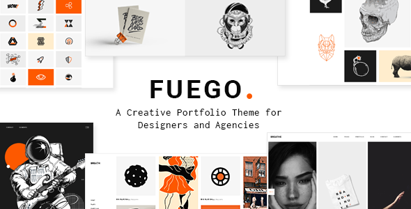 Fuego - A Creative Portfolio Theme for Designers and Agencies