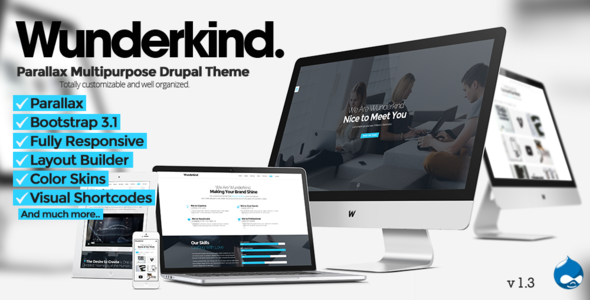 Image of Wunderkind - One Page Parallax Drupal 7 Theme