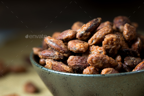 Sugar coated roast almond - Stock Photo - Images