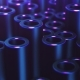 Loop Abstract Violet-blue Field of Tubes - VideoHive Item for Sale