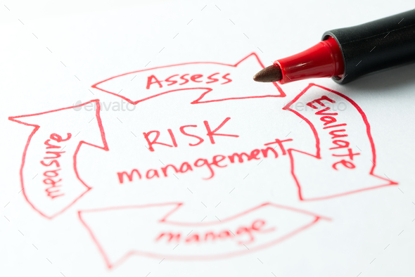 Risk management diagram - Stock Photo - Images