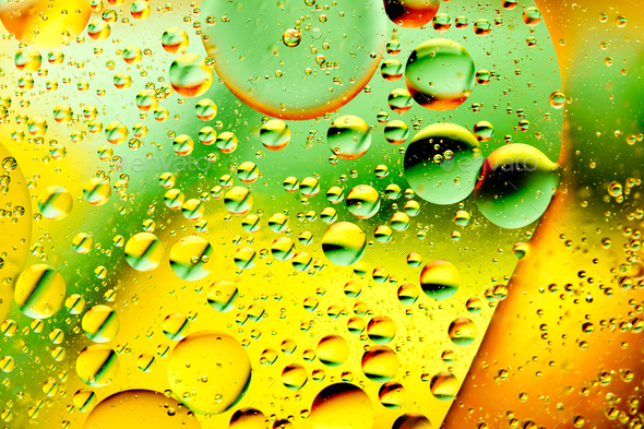 oil bubbles in water - Stock Photo - Images