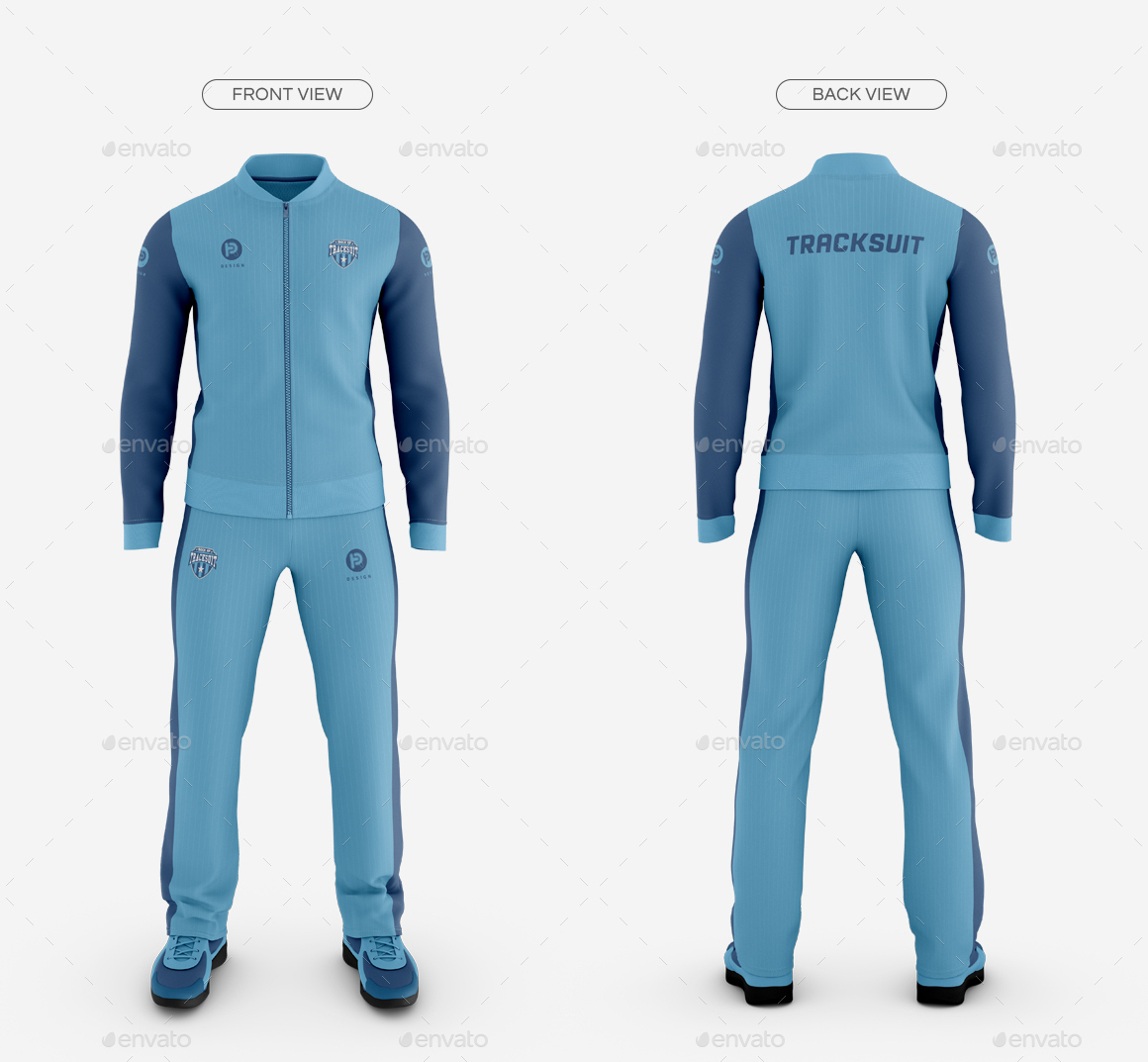 Men's Tracksuit Baseball Collar Mockup