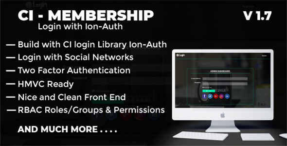 Codeigniter Login with Ion Auth, HMVC, Social Login and User management System - CodeCanyon Item for Sale