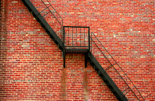 Fire escape - Stock Photo - Images