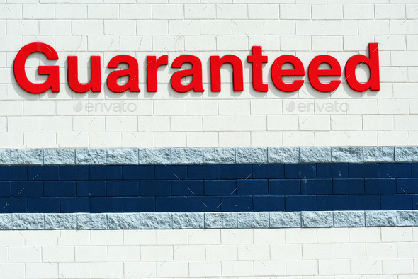 Guaranted sign - Stock Photo - Images