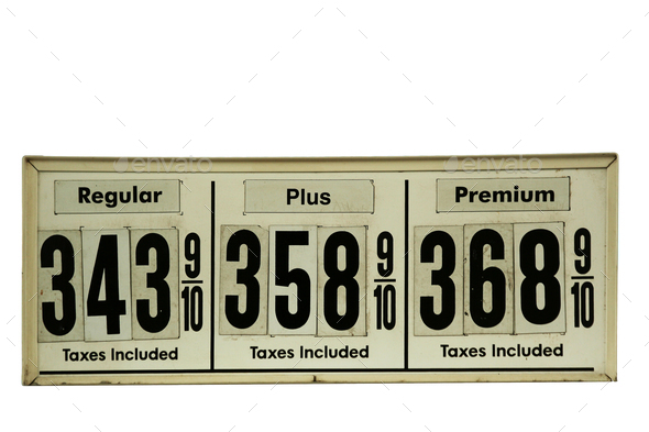 High Gas prices signs - Stock Photo - Images