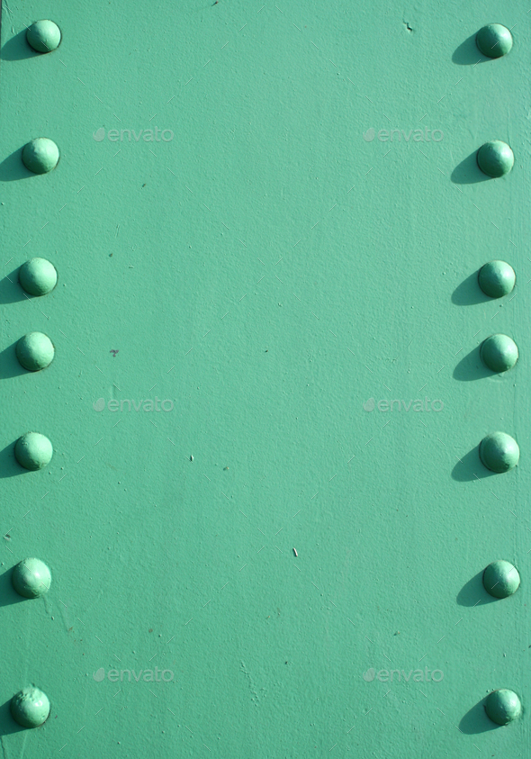 Steel girder with rivets - Stock Photo - Images
