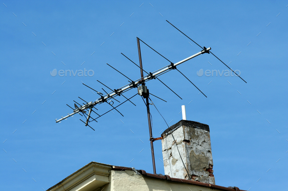 Old TV antenna - Stock Photo - Images