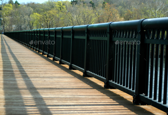 Wooden bridge walkway - Stock Photo - Images