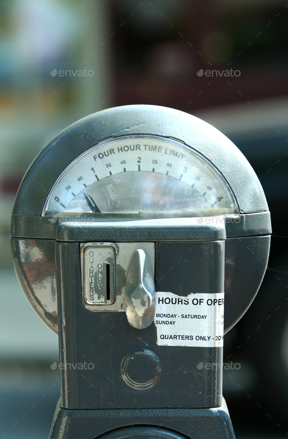 Twenty five cent parking meter - Stock Photo - Images