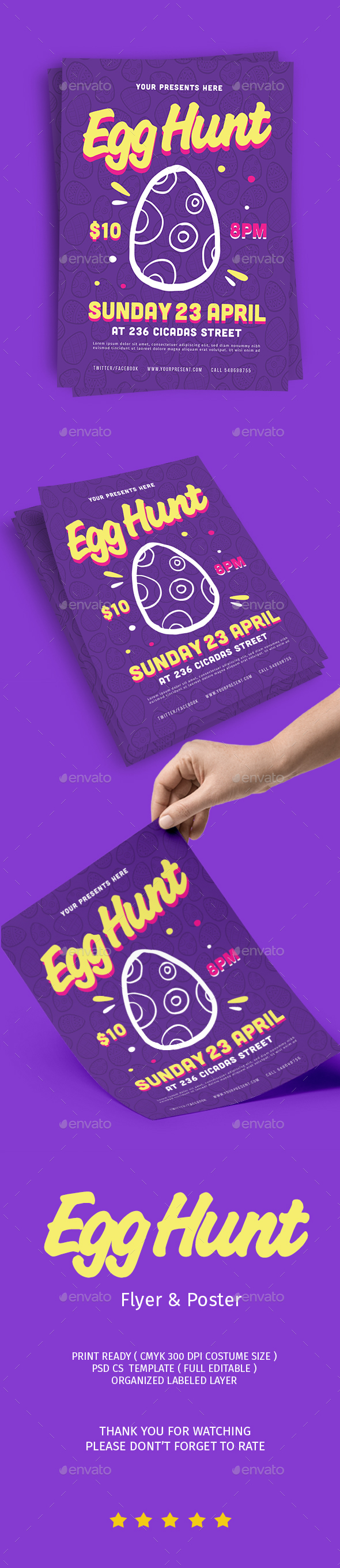 Egg Hunt Flyer - Flyers Print Templates