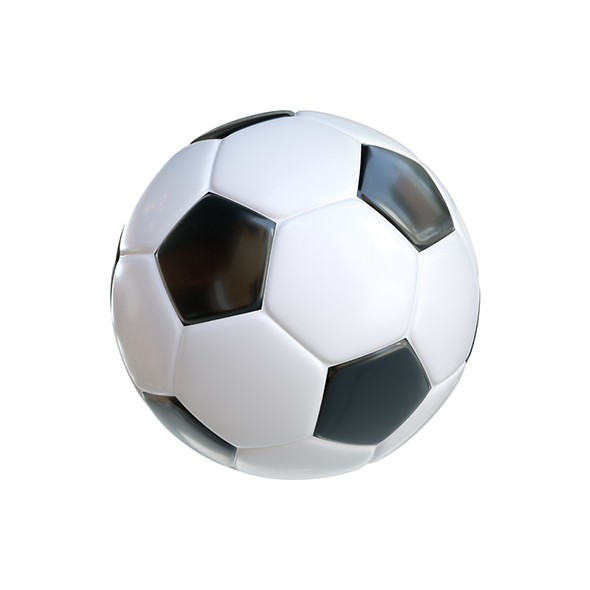 Soccer Ball Classic Black White - 3DOcean Item for Sale