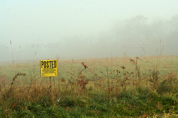 Foggy sign - Stock Photo - Images