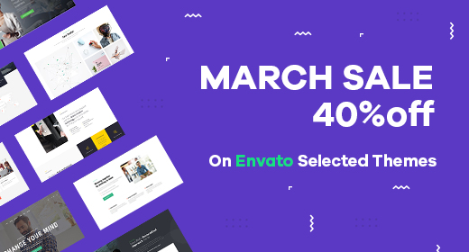 8-15th Envato 40% OFF March Sale