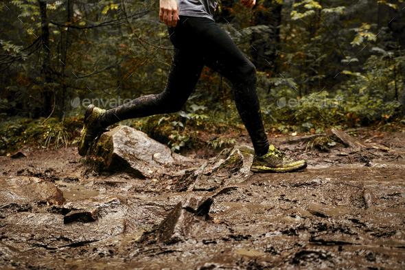 feet men runner - Stock Photo - Images