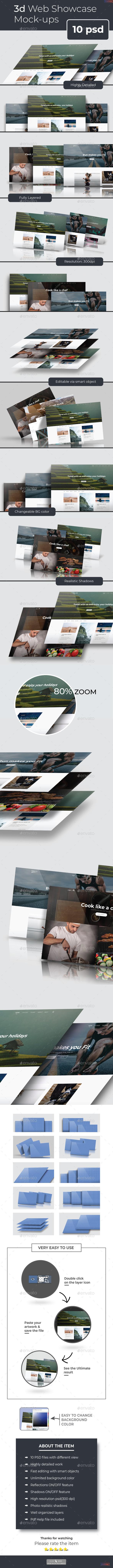 3d Web Showcase Mockups - Product Mock-Ups Graphics