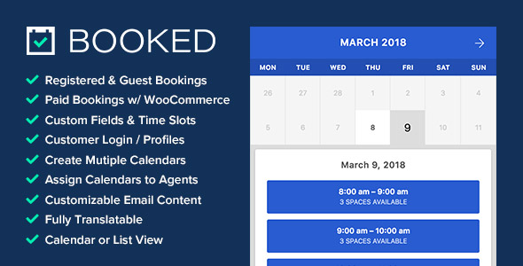 Booked - Appointment Booking for WordPress Nulled