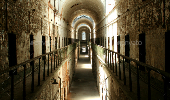 Prison cellblock - Stock Photo - Images