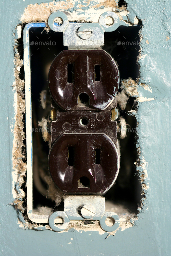 Electric outlet - Stock Photo - Images