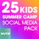 Kids Summer Camp-Social Media Pack - GraphicRiver Item for Sale