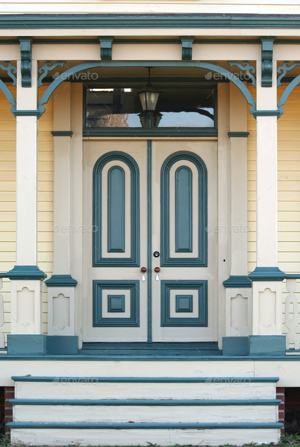 Old house doorway - Stock Photo - Images