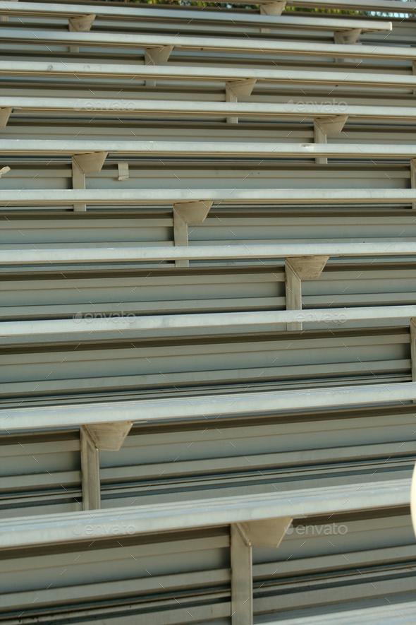 Football field bleachers - Stock Photo - Images