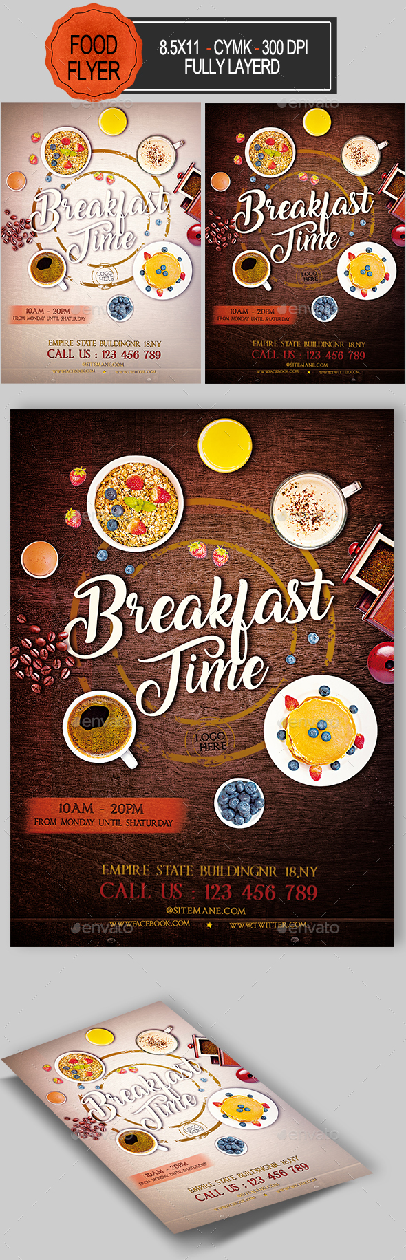 Breakfast Time Flyer - Events Flyers