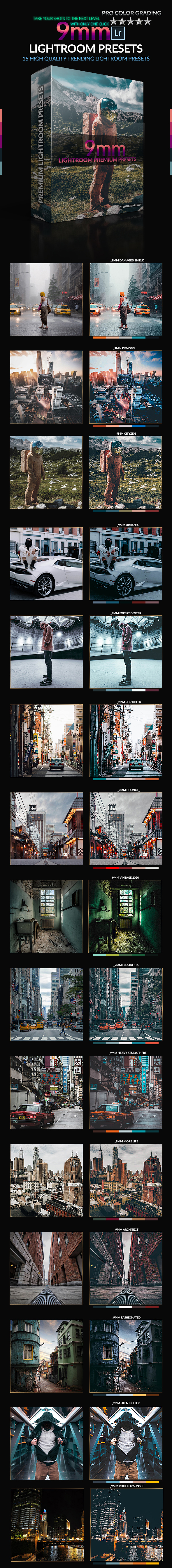 9mm PRO Lightroom Presets - Lightroom Presets Add-ons