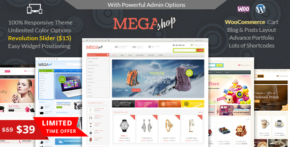 Mega Shop - WooCommerce Responsive Theme